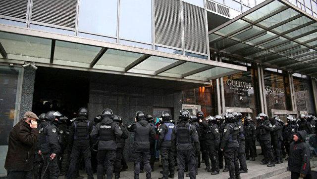 Ситуация у здания редакция газеты Вести в Киеве
