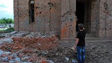Иверский храм Горловки после артобстрела