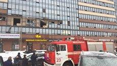 Место взрыва в многоэтажном доме в Санкт-Петербурге. 9 февраля 2018