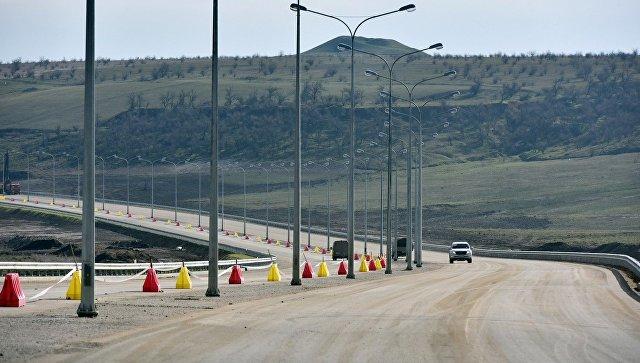 Строительство автоподхода к Крымскому мосту и трассы Таврида