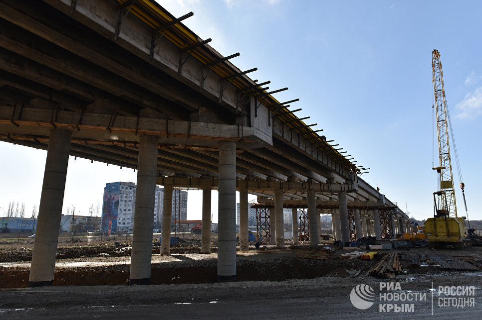 Работы по строительству путепровода в составе шоссе Героев Сталинграда. Автоподходы