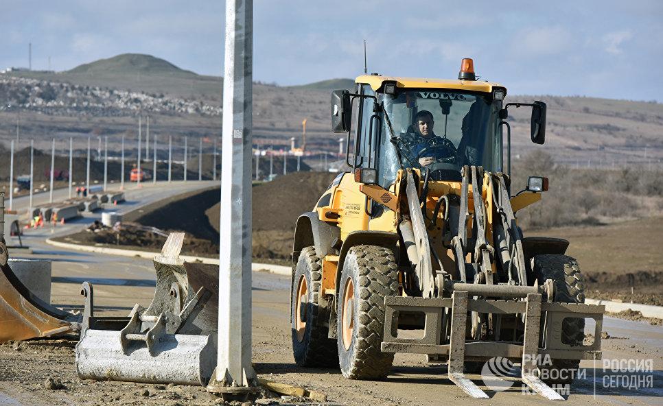 Автоподходы. Работы по строительству путепровода в составе шоссе Героев Сталинграда
