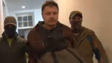 Скриншот задержания гражданина Украины за шпионаж в Симферополе