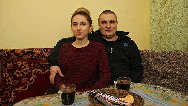 Дмитрий Бобрик с женой Полиной Соколовой