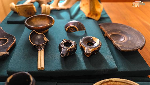 Археологические находки, обнаруженные в зоне строительства Крымского моста