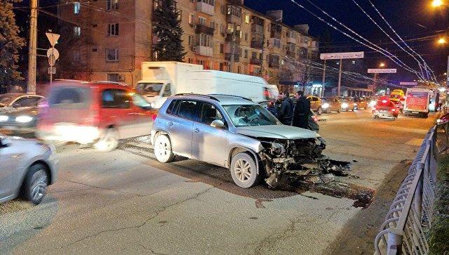 ДТП в районе улицы Гагарина в Симферополе