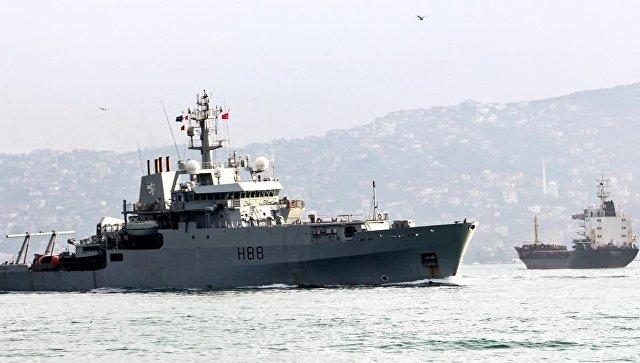 Расхождение судна Черноморского флота Кызыл-60 и корабля ВМС Великобритании Энтерпрайз в проливе Босфор. 13 февраля 2018