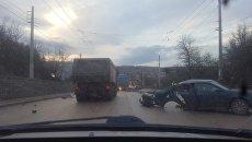ДТП на въезде в Симферополь. 15 февраля 2018