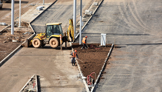 Строительные работы на площадке нового терминала аэропорта Симферополь