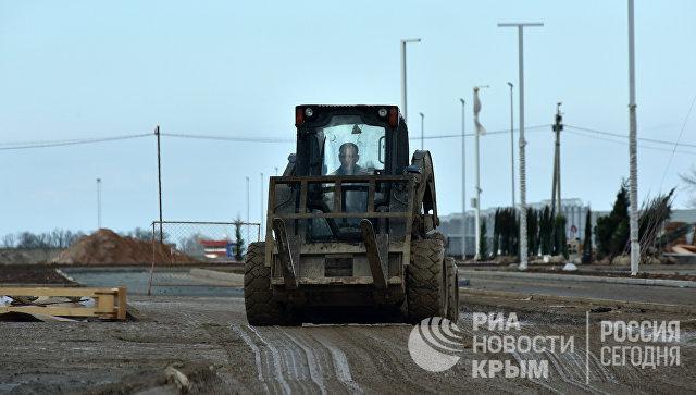Строительная площадка нового терминала аэропорта Симферополь