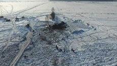 Поисковые работы на месте падения Ан-148 в Подмосковье