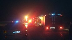 ДТП с участие трех фур и легкового автомобиля на трассе Керчь-Феодосия