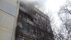 Пожар в жилом доме в Феодосии