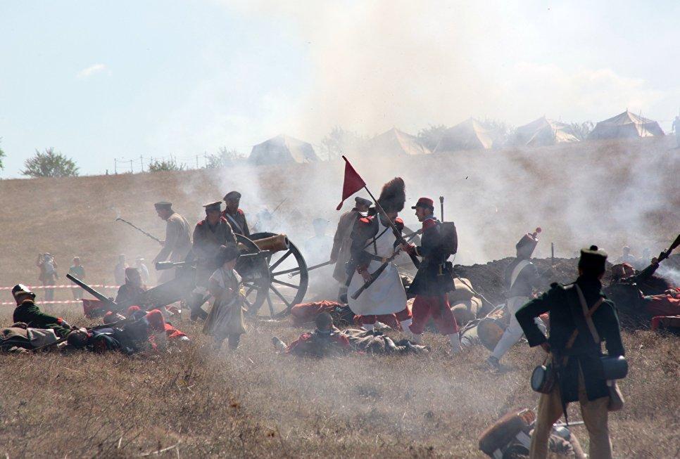 Х военно-исторический фестиваль Альминское дело в Крыму
