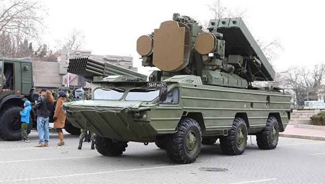 Выставка военной техники в Севастополе, посвященная Дню защитника Отечества