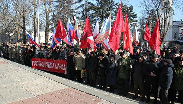 В Симферополе почтили память погибших на митинге 26 февраля 2014 года