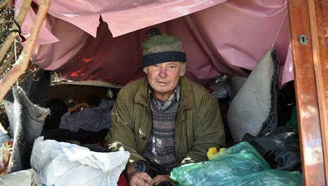 Просто Леня, который живет под елью на одной из центральных улиц Симферополя