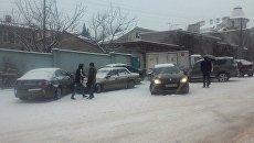 В Севастополе столкнулись более десяти машин