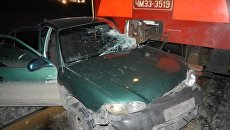 ДТП с участием тепловоза и легкового автомобиля Hyundai в Севастополе