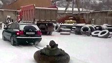 Как севастопольцы в снегопад добирались на работу