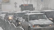 Снегопад в Симферополе. 1 марта 2018