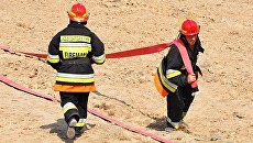 Сотрудники пожарной службы МЧС Азербайджана. Архивное фото
