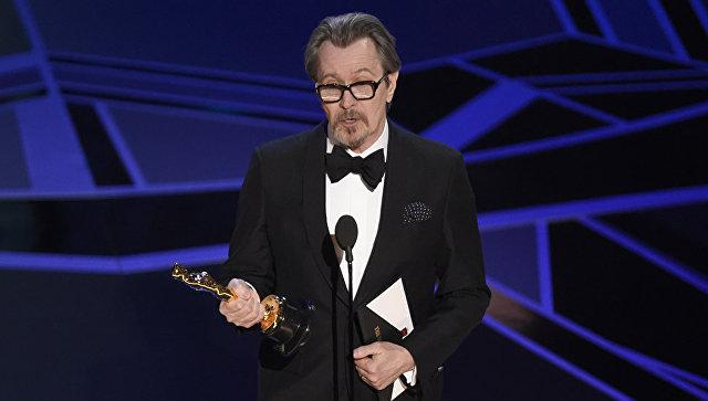 Гэри Олдман на вручении премии Оскар