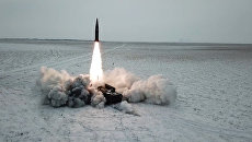 Спутник_Боевой пуск ракеты ОТРК Искандер-М с полигона Капустин Яр
