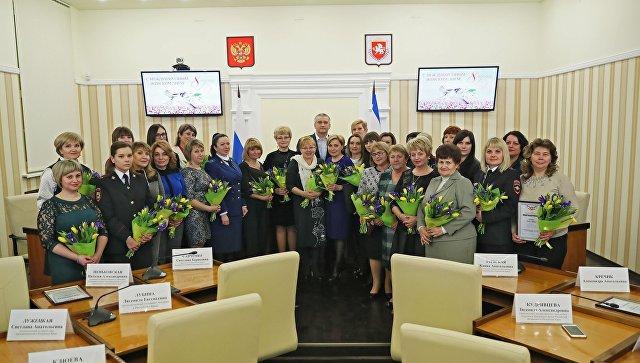 Торжественное мероприятие в Совете министров Республики Крым по случаю Международного женского дня