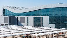 У нового терминала аэропорта Симферополь обустроены стоянки для туравтобусов