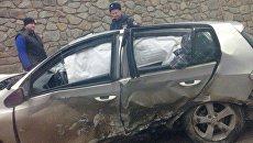 ДТП с участием пяти машин на въезде в Симферополь со стороны Алушты