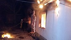 Пожар в частном доме в с. Переваловка (Судак)