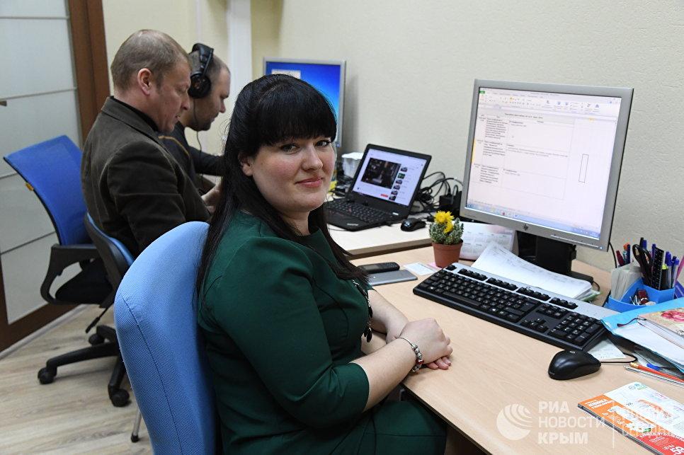 """Сотрудники регионального подразделения МИА """"Россия сегодня"""" в Симферополе"""