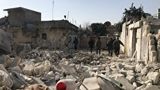 Последствия артобстрелов Африна в Сирии