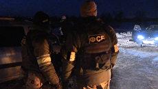 Оперативные кадры ФСБ с места перестрелки с готовившими теракт преступниками