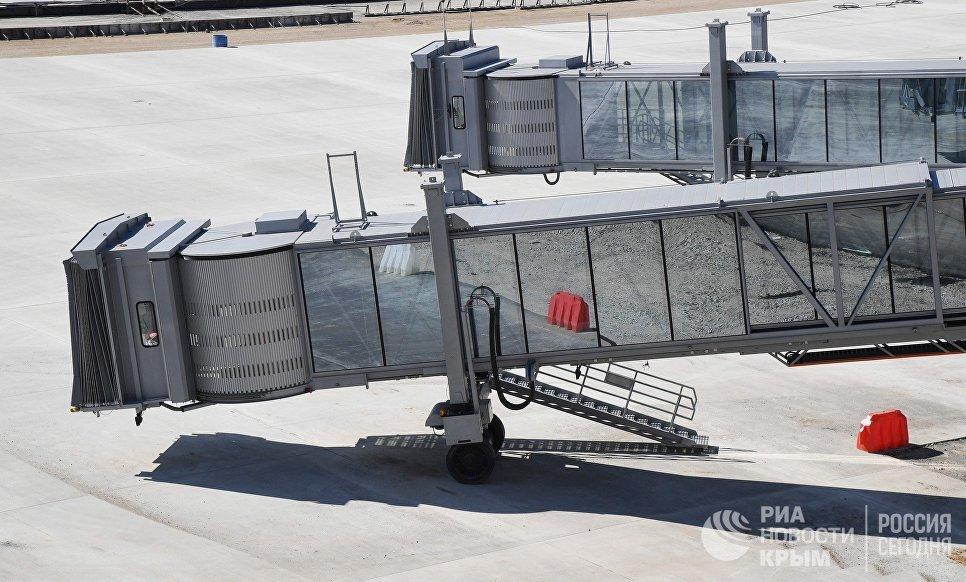 Телетрапы нового аэровокзального комплекса аэропорта Симферополь