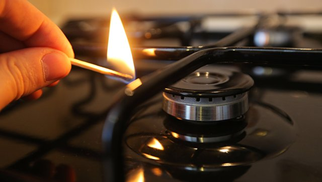 Зажжение газовой конфорки.