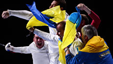 Спортсмены сборной Украины на чемпионате мира в Москве. Архивное фото