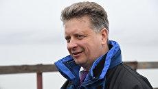 Министр транспорта России Максим Соколов на стройплощадке Крымского моста. 14 марта 2018