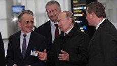 Видео визита президента России Владимира Путина в новый терминал аэропорта Симферополь