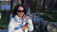 Международный наблюдатель с Украины Татьяна Меле, которая приехала в Крым на выборы президента РФ