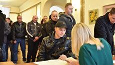 Очередь на избирательном участке в Севастополе в день выборов президента РФ