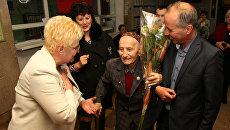 96-летний ветеран Великой Отечественной войны Шукра Абджемиль проголосова на выборах президента. Симферополь, 18 марта 2018