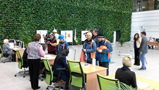 Видео голосования на участке в аэропорту Симферополь