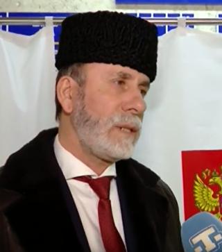Муфтий мусульман Крыма проголосовал на президентских выборах. Симферополь, 18 марта 2018