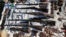 Схрон оружия, который сотрудники ОМВД Бахчисарайского района обнаружили в ущелье Ай-Петри