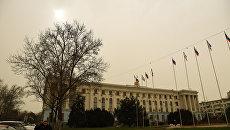 Желтое небо над Симферополем. 23 марта 2018