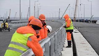 Видео готовности автодорожной части Крымского моста. 23 марта 2018