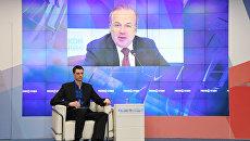 Пресс-конференция в формате видеомоста по итогам визита российской делегации в Сирию