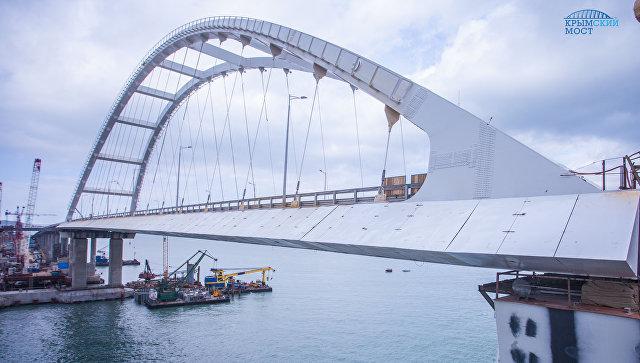 Строители Крымского моста завершили монтаж обтекателей по фасаду автодорожной арки